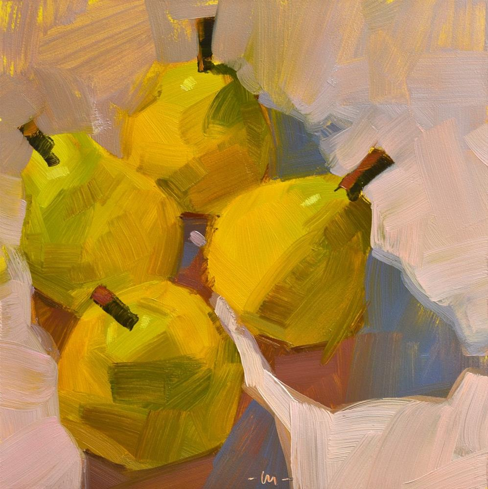 """""""Four Pear 3"""" original fine art by Carol Marine"""