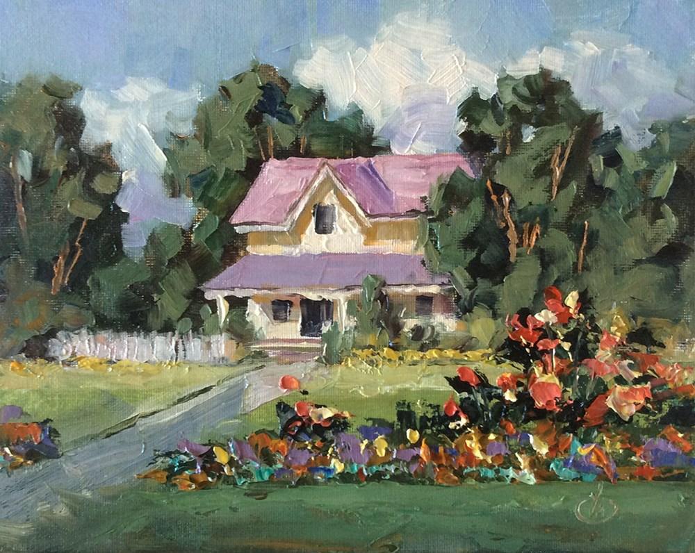 """""""FLOWER GARDEN"""" original fine art by Tom Brown"""