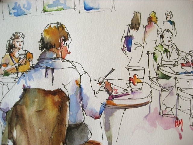 """Tea on Tuesday"" original fine art by Nora MacPhail"