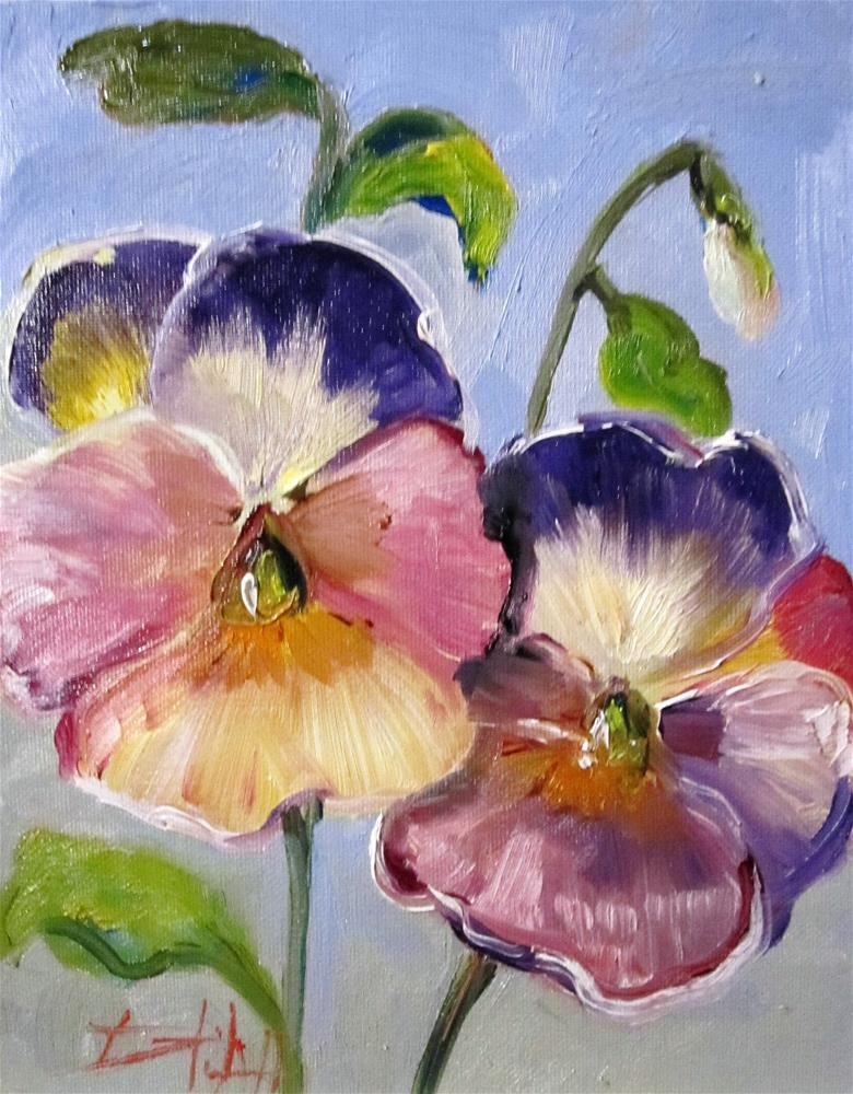 """""""Pansies"""" original fine art by Delilah Smith"""
