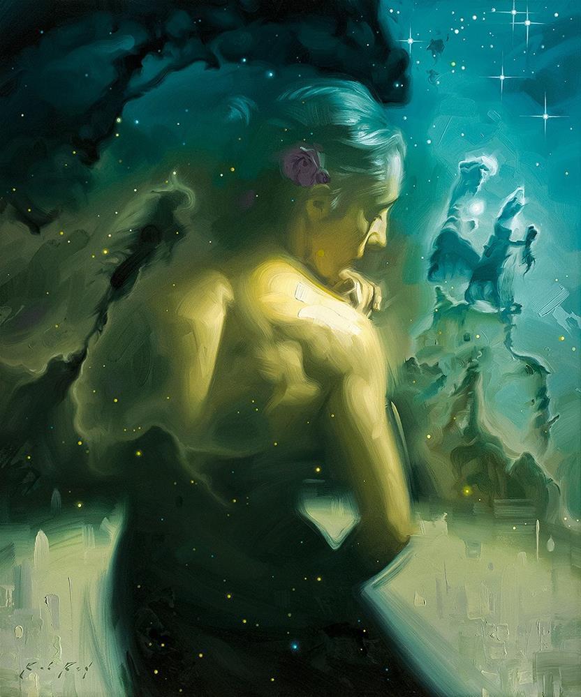 """Stardust IV"" original fine art by Rob  Rey"