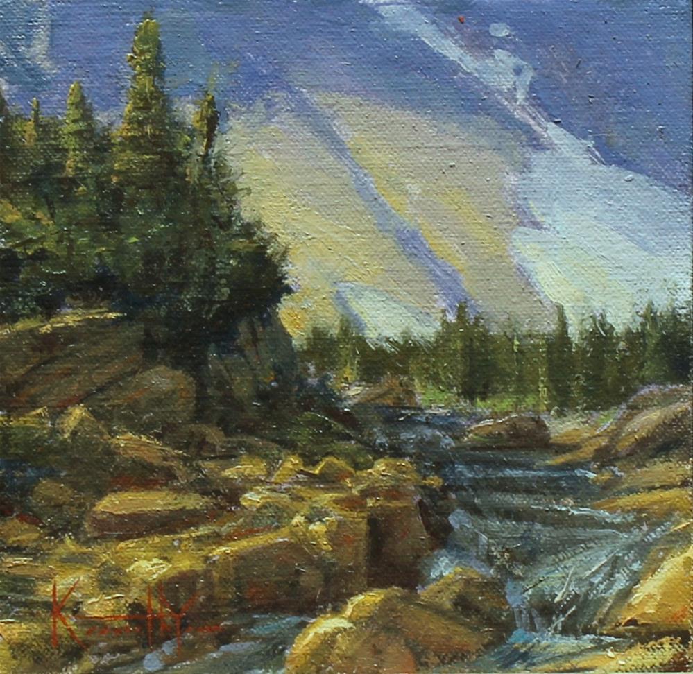 """""""Siyeh Creek"""" original fine art by Kenneth Yarus"""