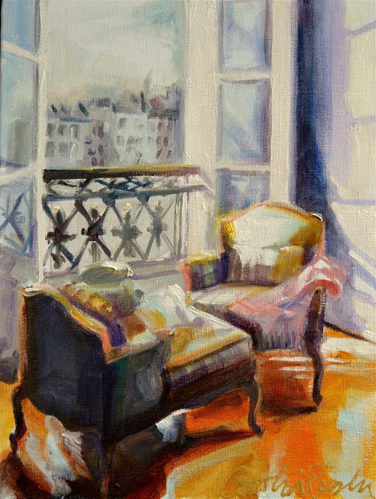 """PARIS VIEW"" original fine art by Cecilia Rosslee"