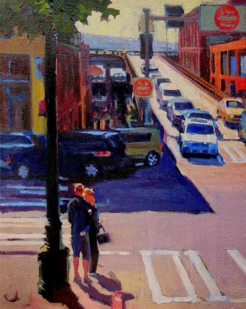 """Crossing Seneca  Seattle, cityscape oil painting by Robin Weiss"" original fine art by Robin Weiss"