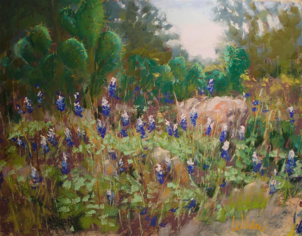 """""""Bluebonnet Hill"""" original fine art by Judy Wilder Dalton"""