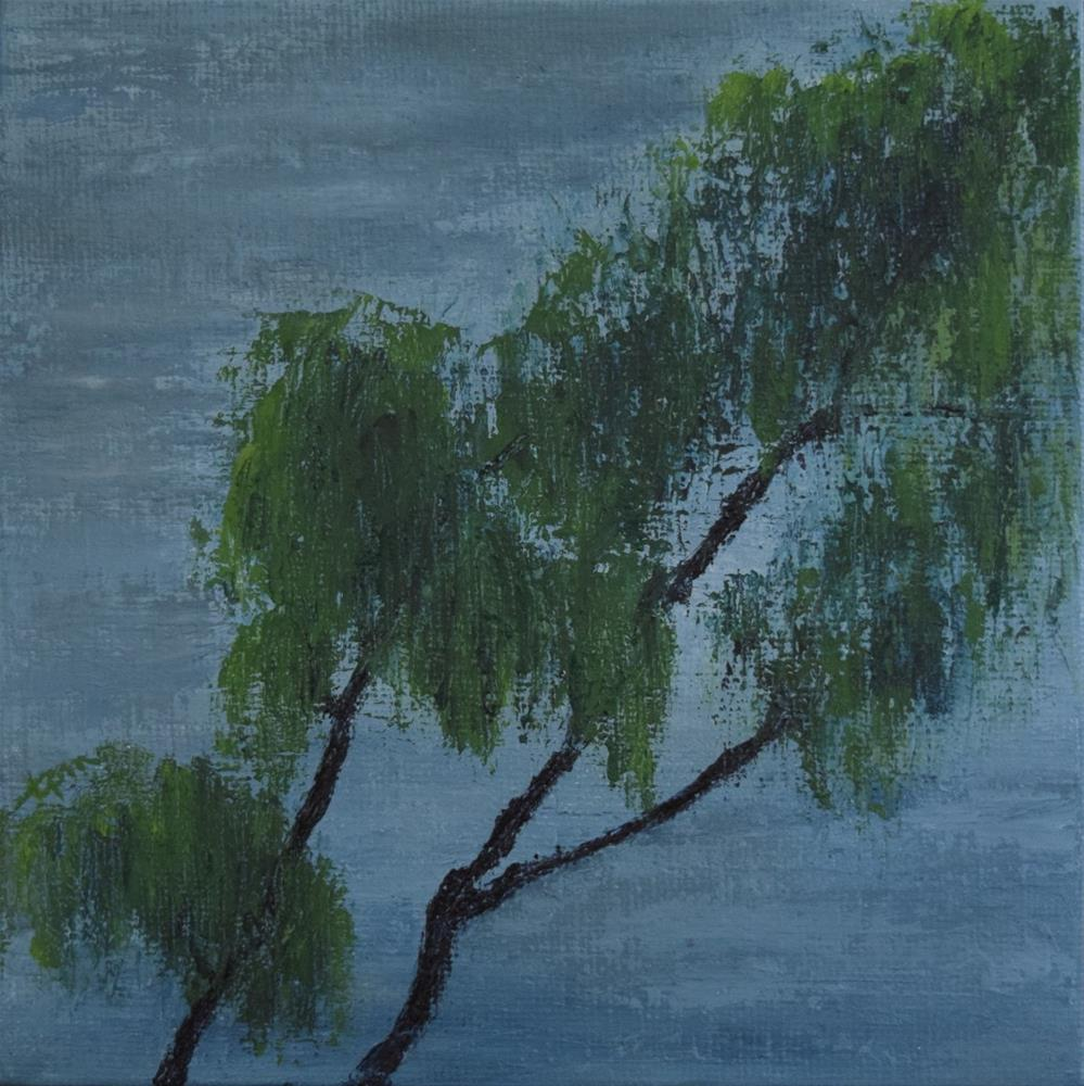 """Sadness and Hope of a Weeping Willow"" original fine art by Tisha Mark"