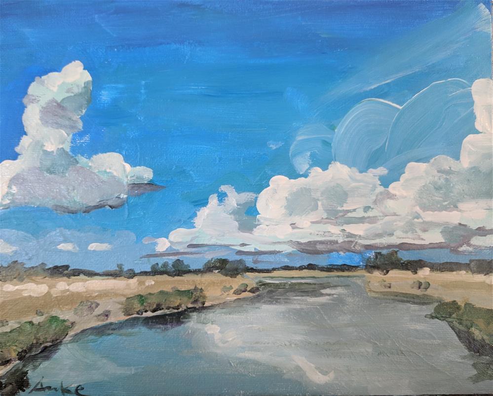 """Water & Sky"" original fine art by Robert Anke"