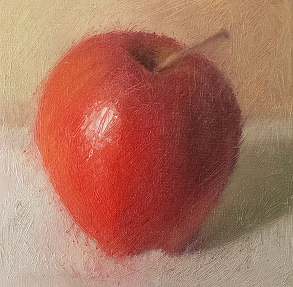 """The Big Apple"" original fine art by Cindy Haase"