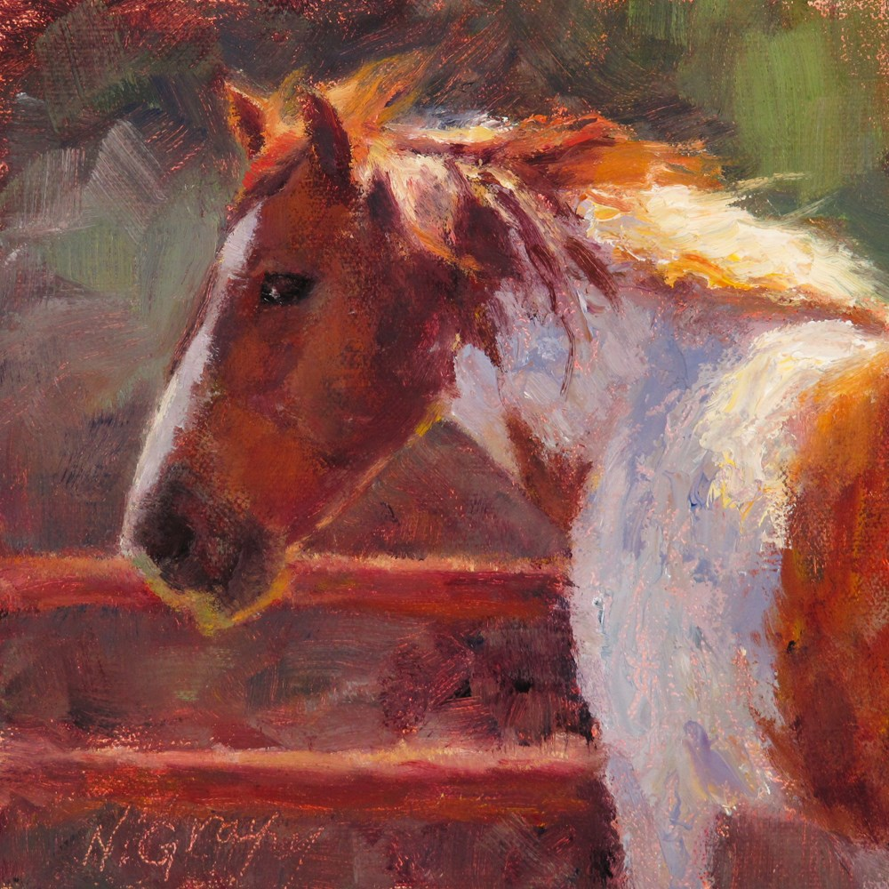 """Mane in the Light"" original fine art by Naomi Gray"