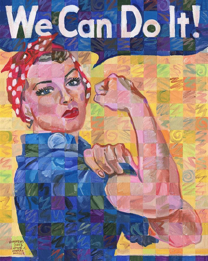 """""""Rosie The Riveter"""" original fine art by Randal Huiskens"""