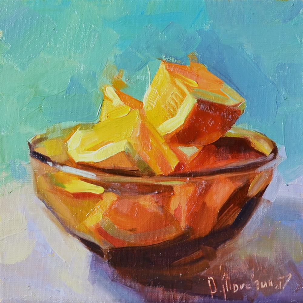 """Orange"" original fine art by Oleksii Movchun"