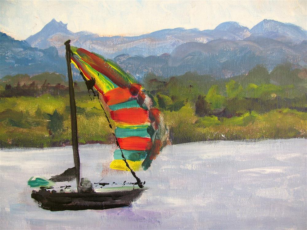"""Sailing on Lake Champlain"" original fine art by Susan Elizabeth Jones"