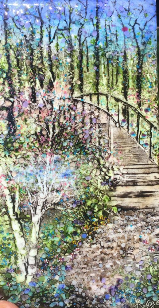 """""""Birch Bridge"""" original fine art by Kelly Alge"""