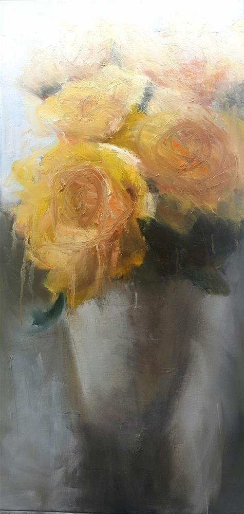 """Softly yellow"" original fine art by Rentia Coetzee"