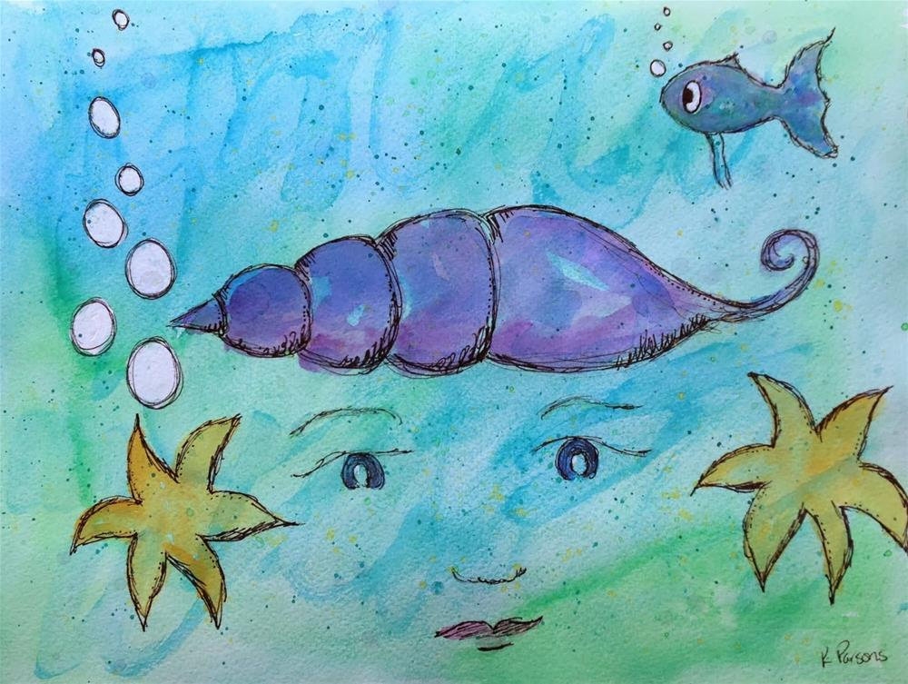 """Undersea Magic"" original fine art by Kali Parsons"