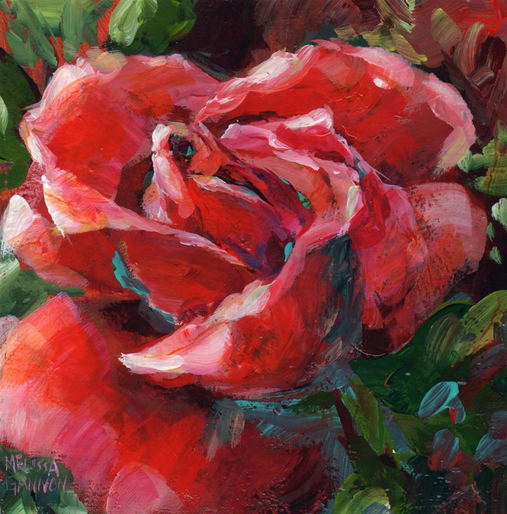"""Luscious Rose"" original fine art by Melissa Gannon"