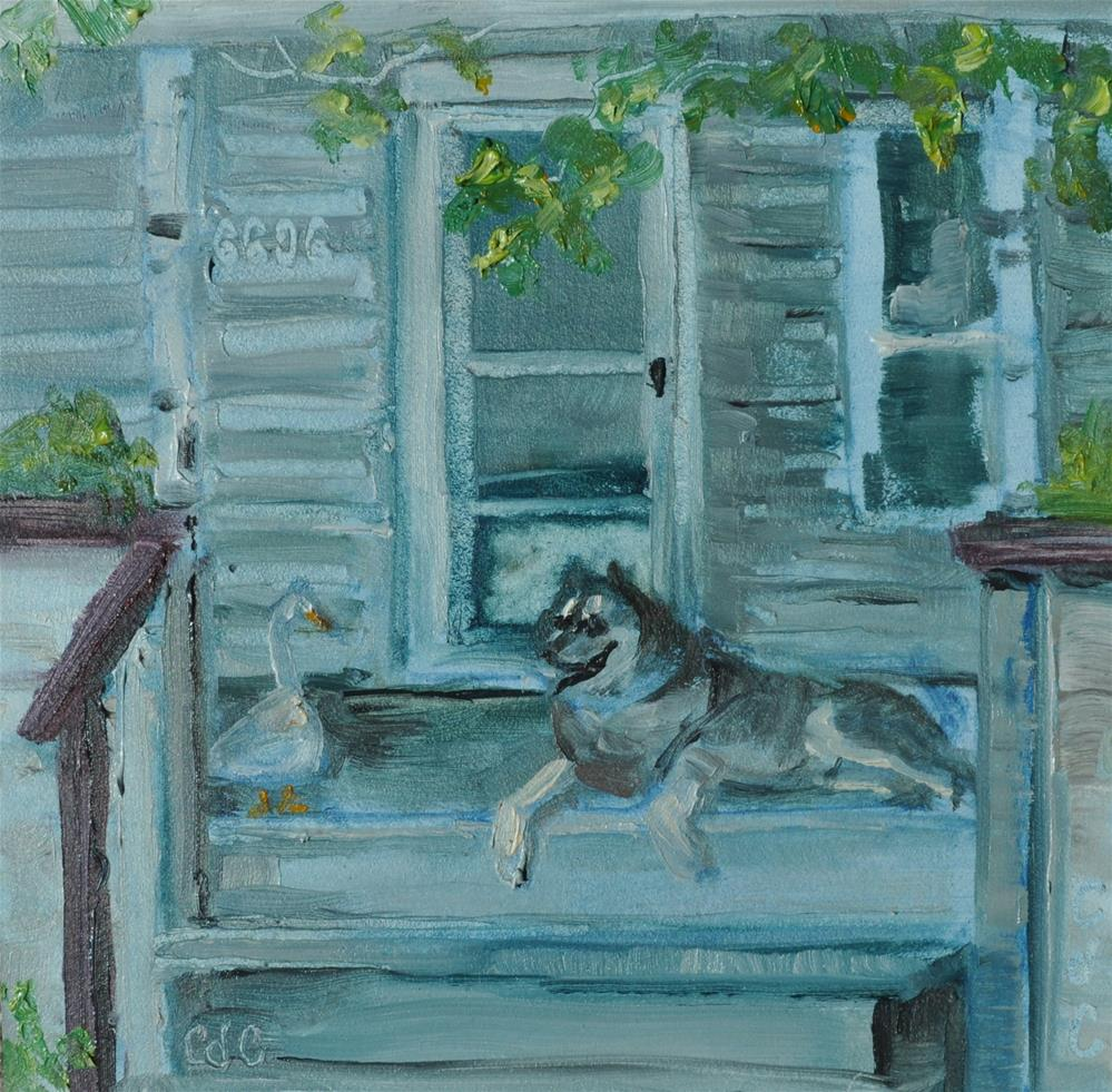 """Guard Dog"" original fine art by Catherine Crookston"