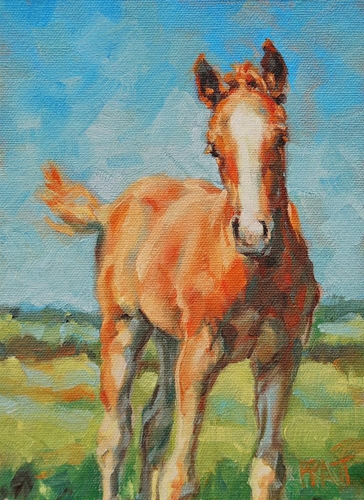 """Out Standing in his Field"" original fine art by Jennifer Pratt"