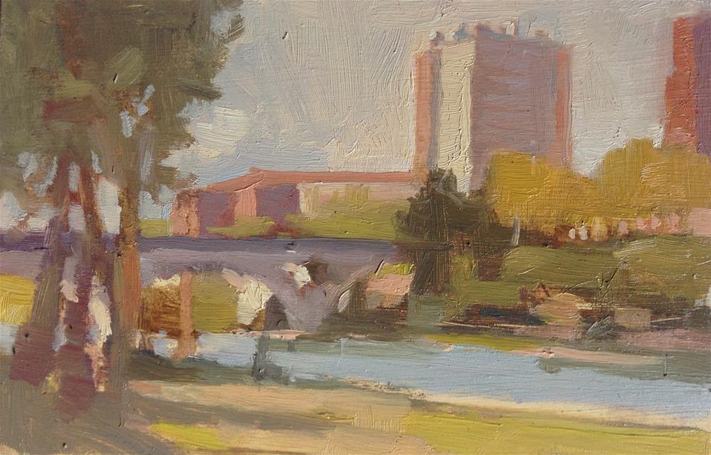"""Bords de Garonne"" original fine art by Christine Bayle"