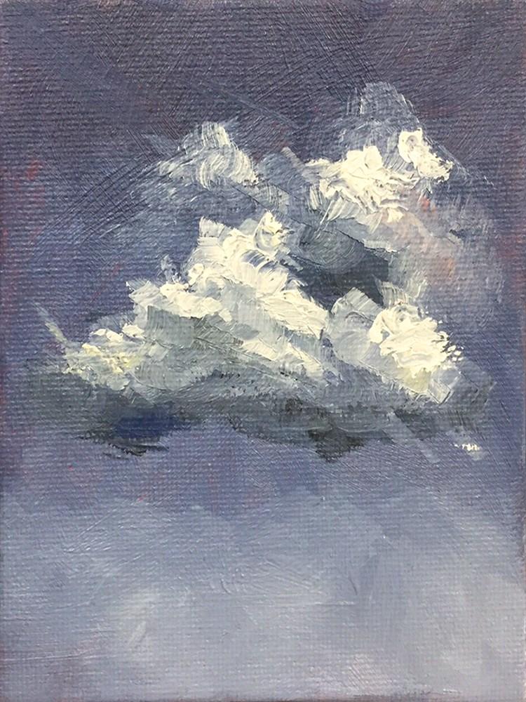 """Clouds 1"" original fine art by Elizabeth Dawn Johnston"