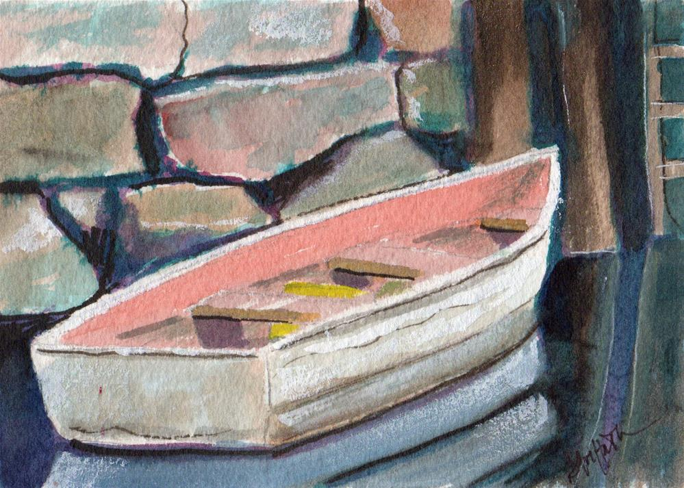 """""""The boat"""" original fine art by Bunny Griffeth"""