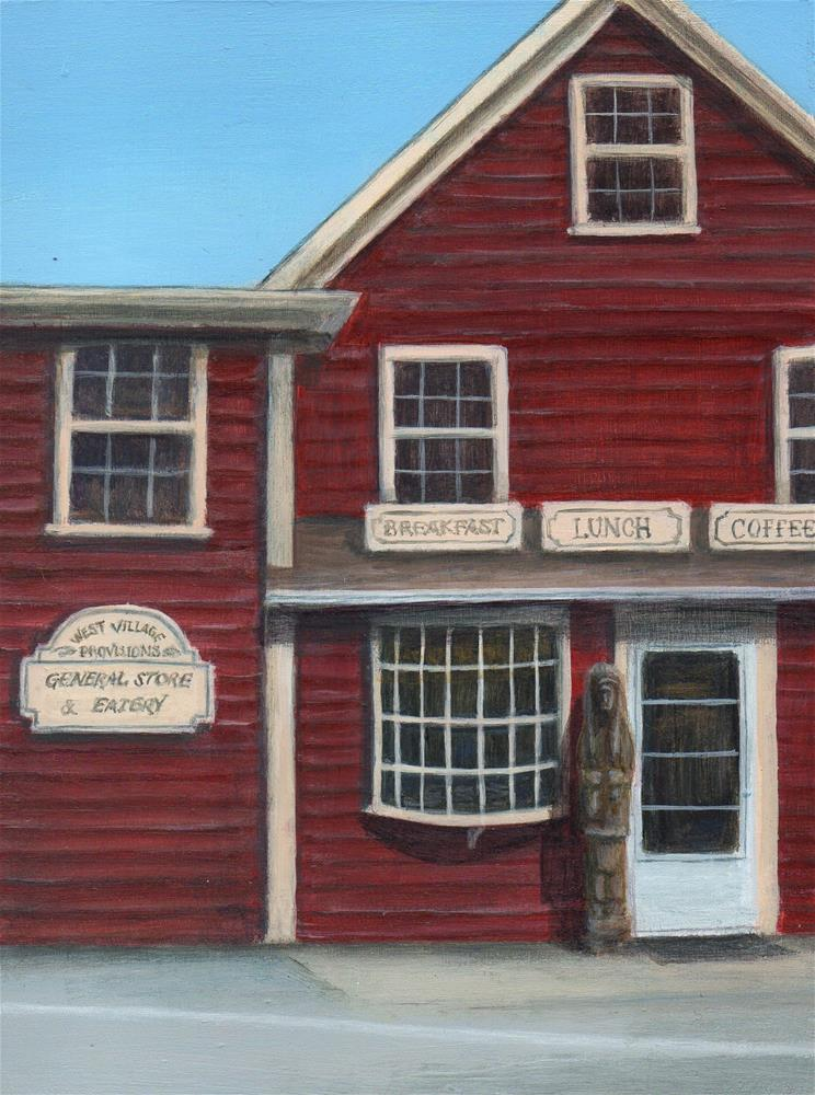 """West Village Provisions"" original fine art by Debbie Shirley"