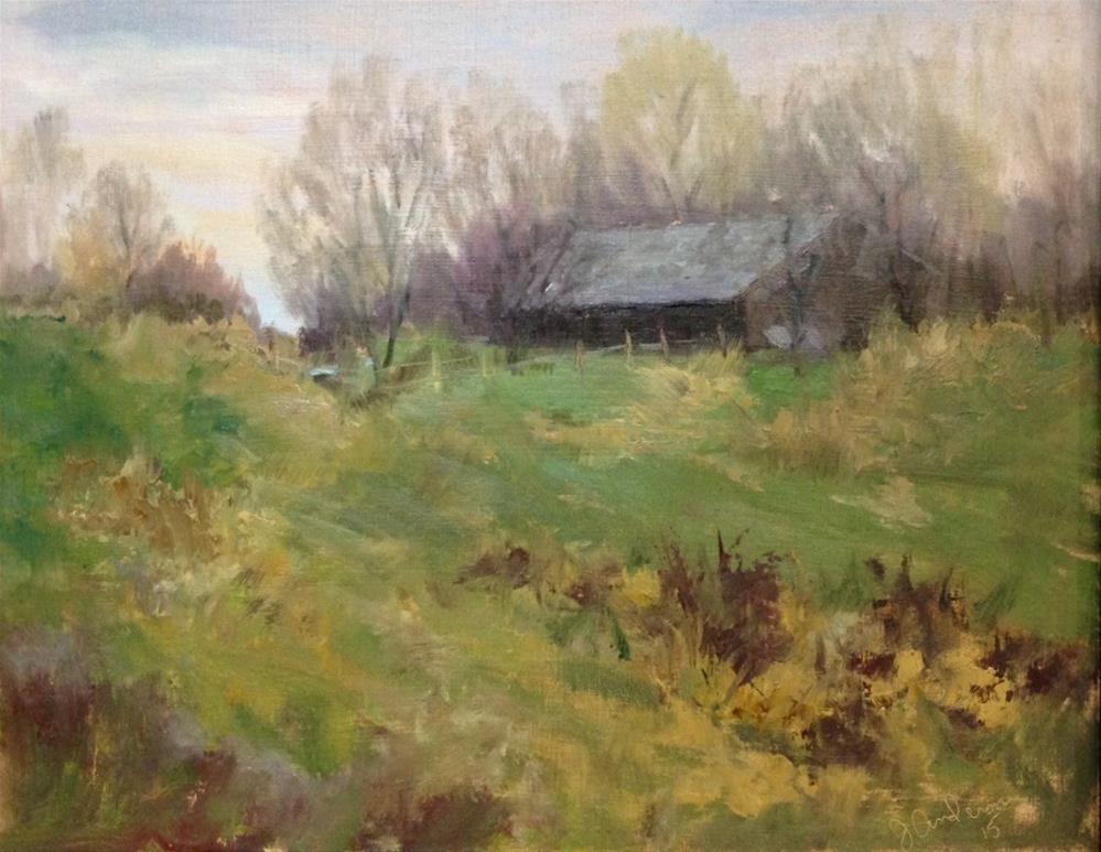 """November Farm"" original fine art by Judith Anderson"