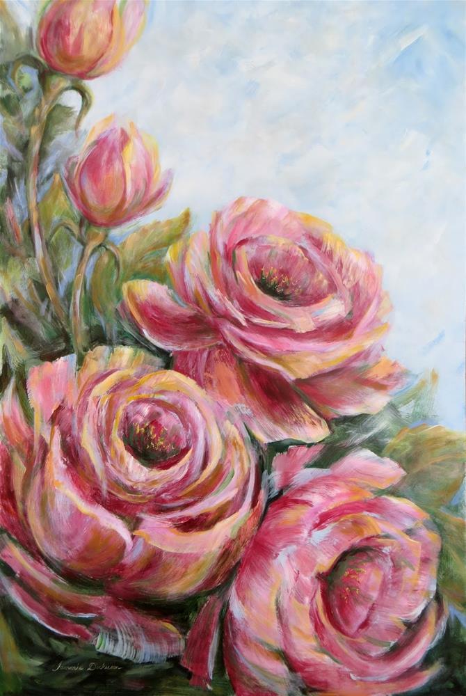 """""""Rose Rhapsody en Grande"""" original fine art by Tammie Dickerson"""