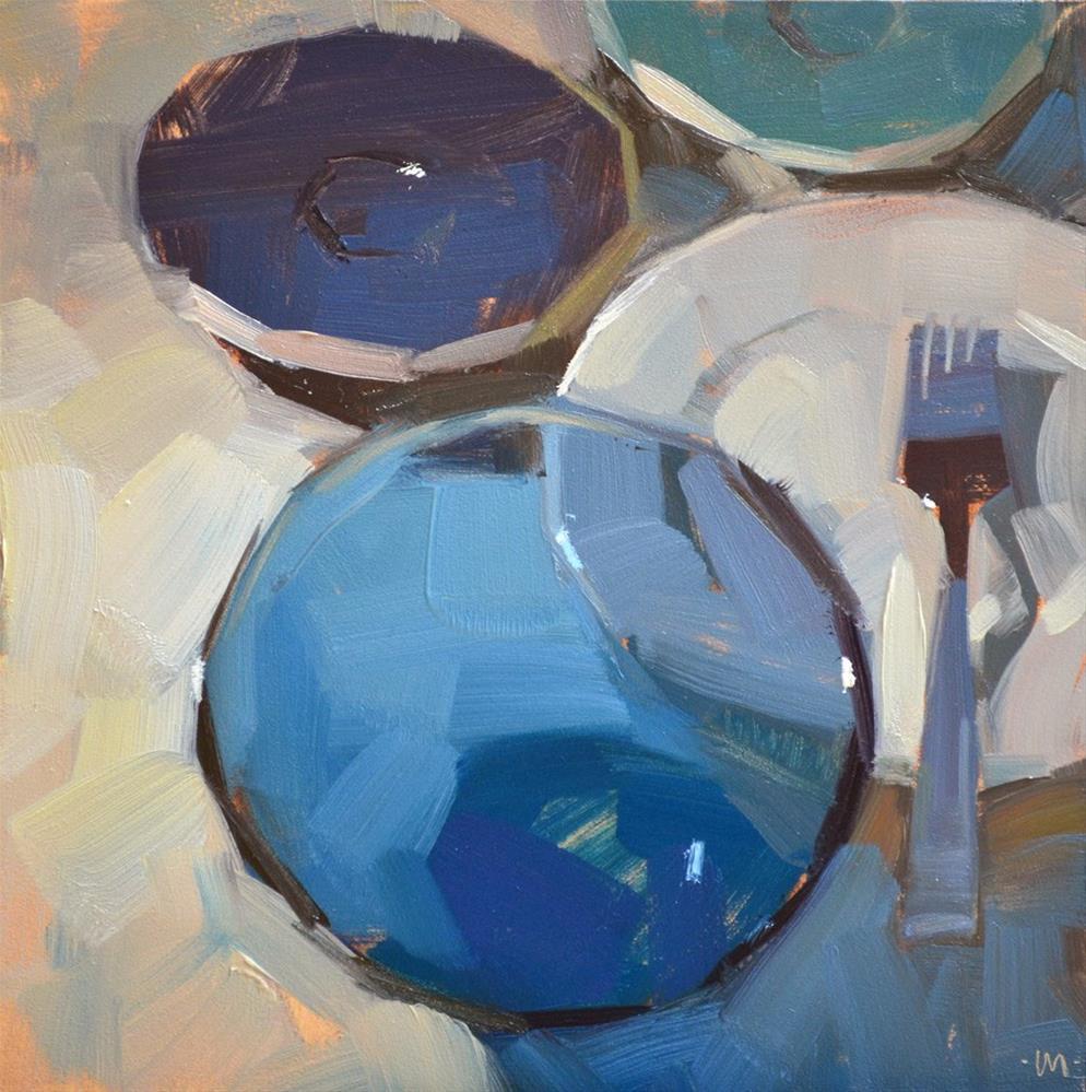 """""""Receding Dishes"""" original fine art by Carol Marine"""