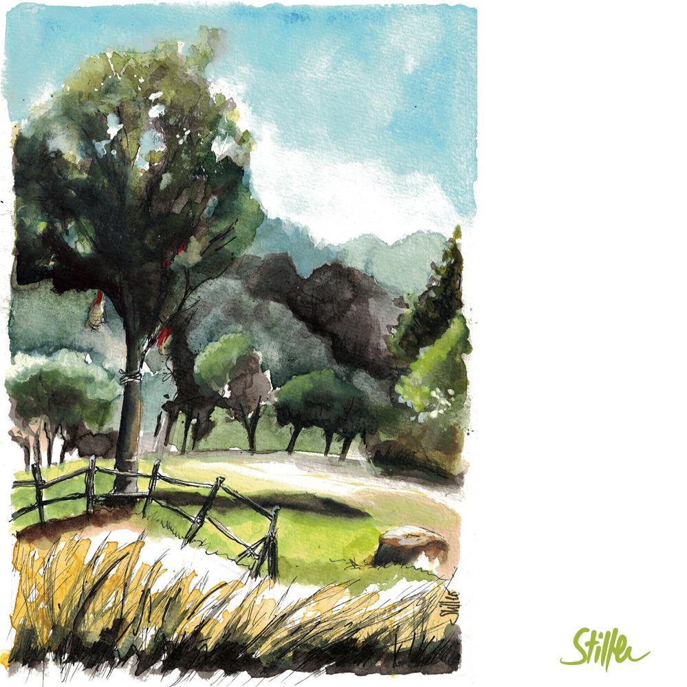 """""""3627 Landscape outdoors"""" original fine art by Dietmar Stiller"""