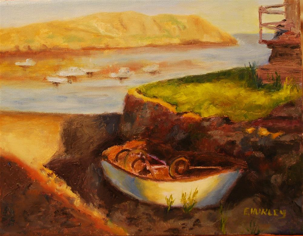 """Working Boat at Rest"" original fine art by Ellen Hurley"