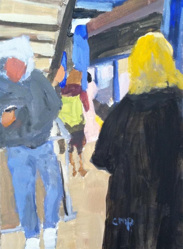 """""""Waiting for the A Train"""" original fine art by Christine Parker"""