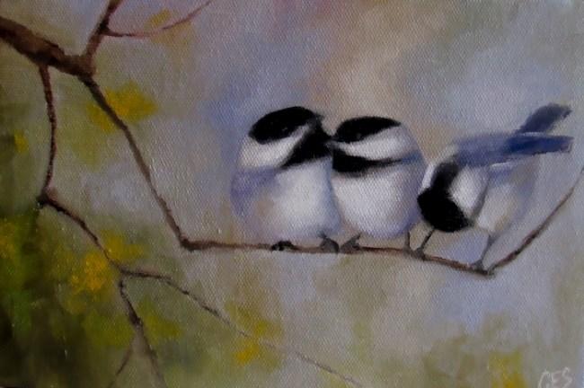 """""""Gossip"""" original fine art by ~ces~ Christine E. S. Code"""