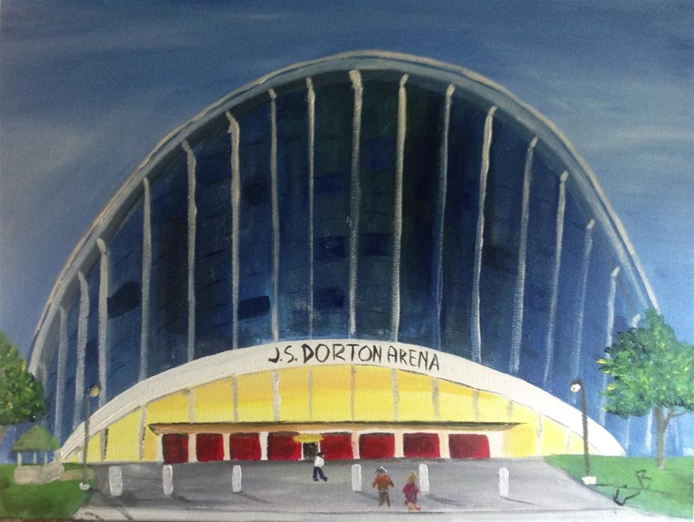 """Dorton Arena #5 30 in 30"" original fine art by Kimberly Balentine"