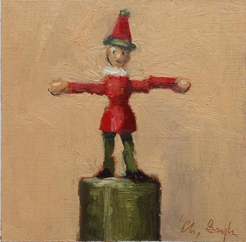 """Wooden toy#3"" original fine art by Christine Bayle"