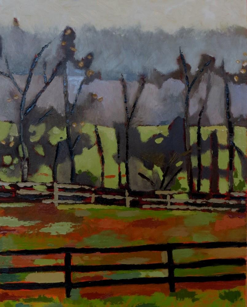 """Treeline Fog"" original fine art by Joan Wiberg"