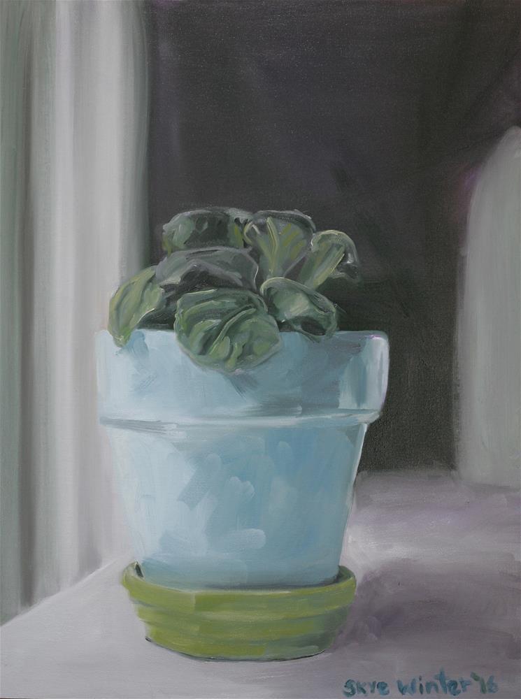 """Quiet Violet"" original fine art by Skye Coddington"