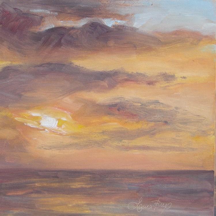 """Early Evening 469"" original fine art by Laura  Buxo"