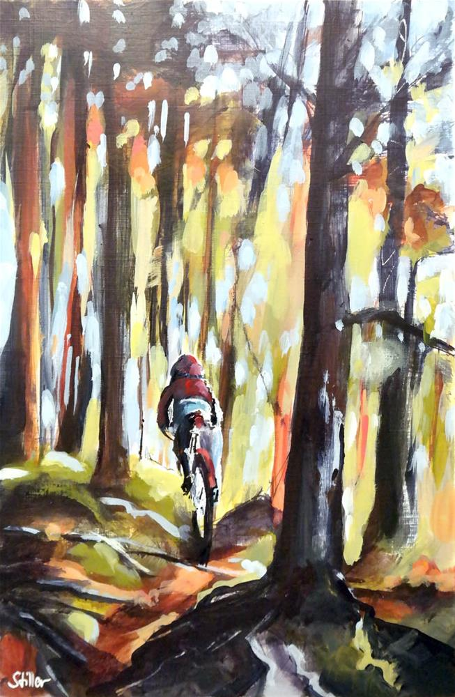 """3036 Biker's Wood"" original fine art by Dietmar Stiller"