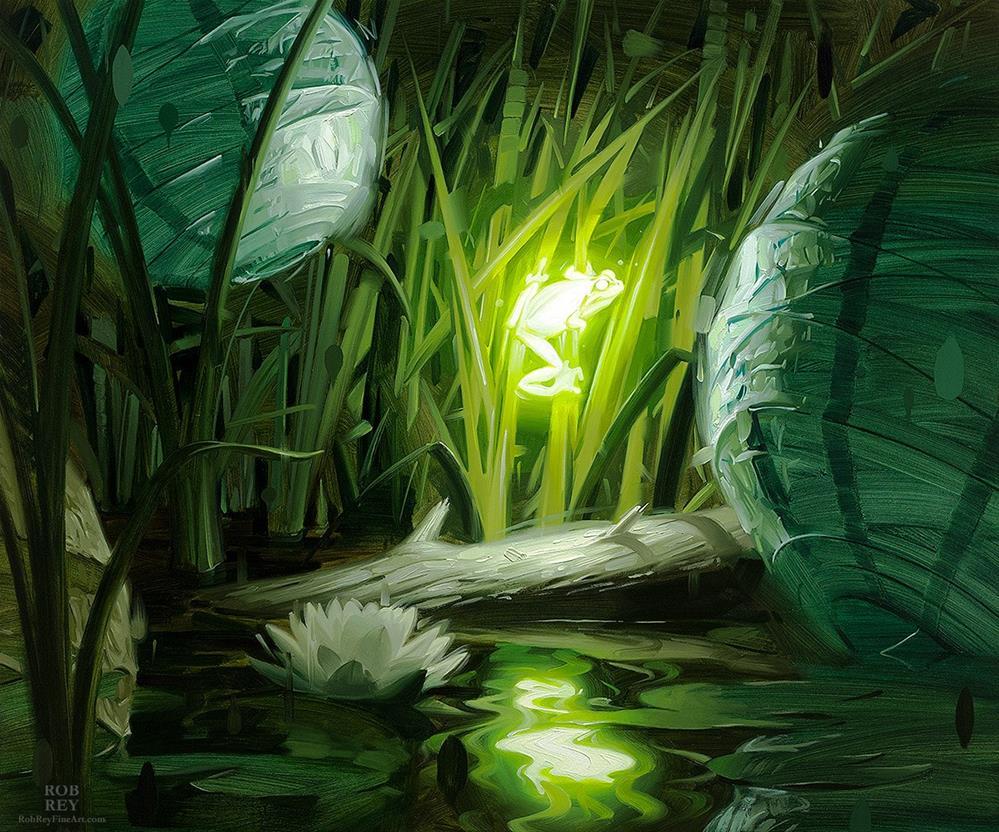 """Bioluminescence III"" original fine art by Rob  Rey"