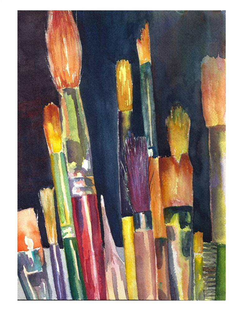 """It Takes All Kinds Watercolor"" original fine art by Suzanne Woodward"