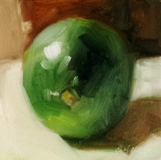 """""""Sublime Lime"""" original fine art by Cindy Haase"""