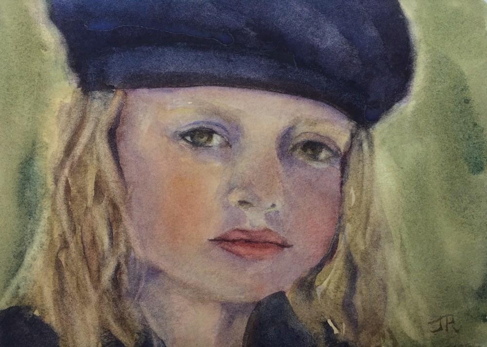 """""""Pourquoi Si Triste?"""" original fine art by June Rollins"""