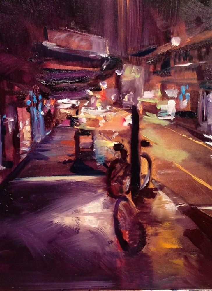 """Lonely Side of City"" original fine art by Kelly Alge"