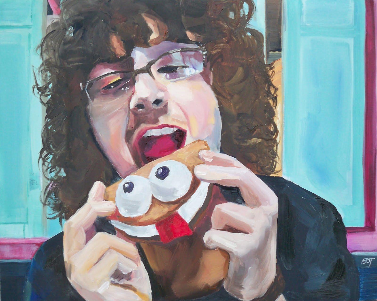 """""""#23 - If You Give A Seth A Cookie"""" original fine art by Elizabeth Dawn Johnston"""