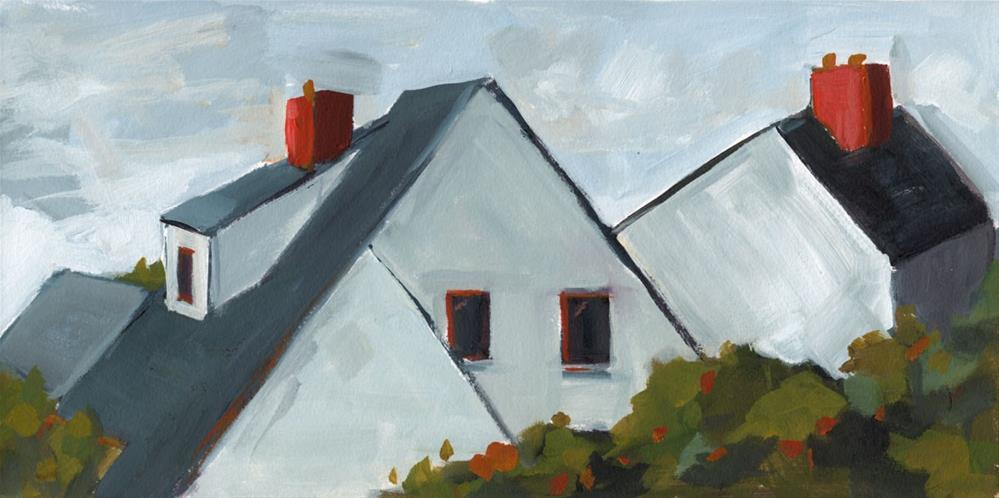 """0576: Newlyn Rooftops"" original fine art by Brian Miller"