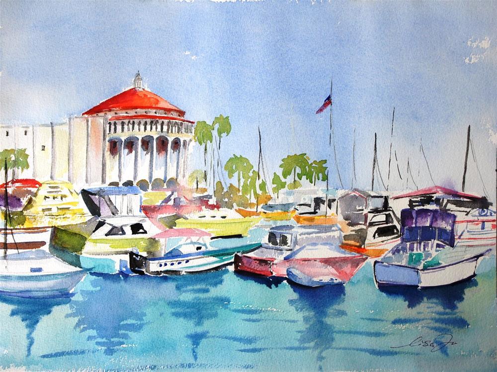 """Catalina island"" original fine art by Lisa Fu"