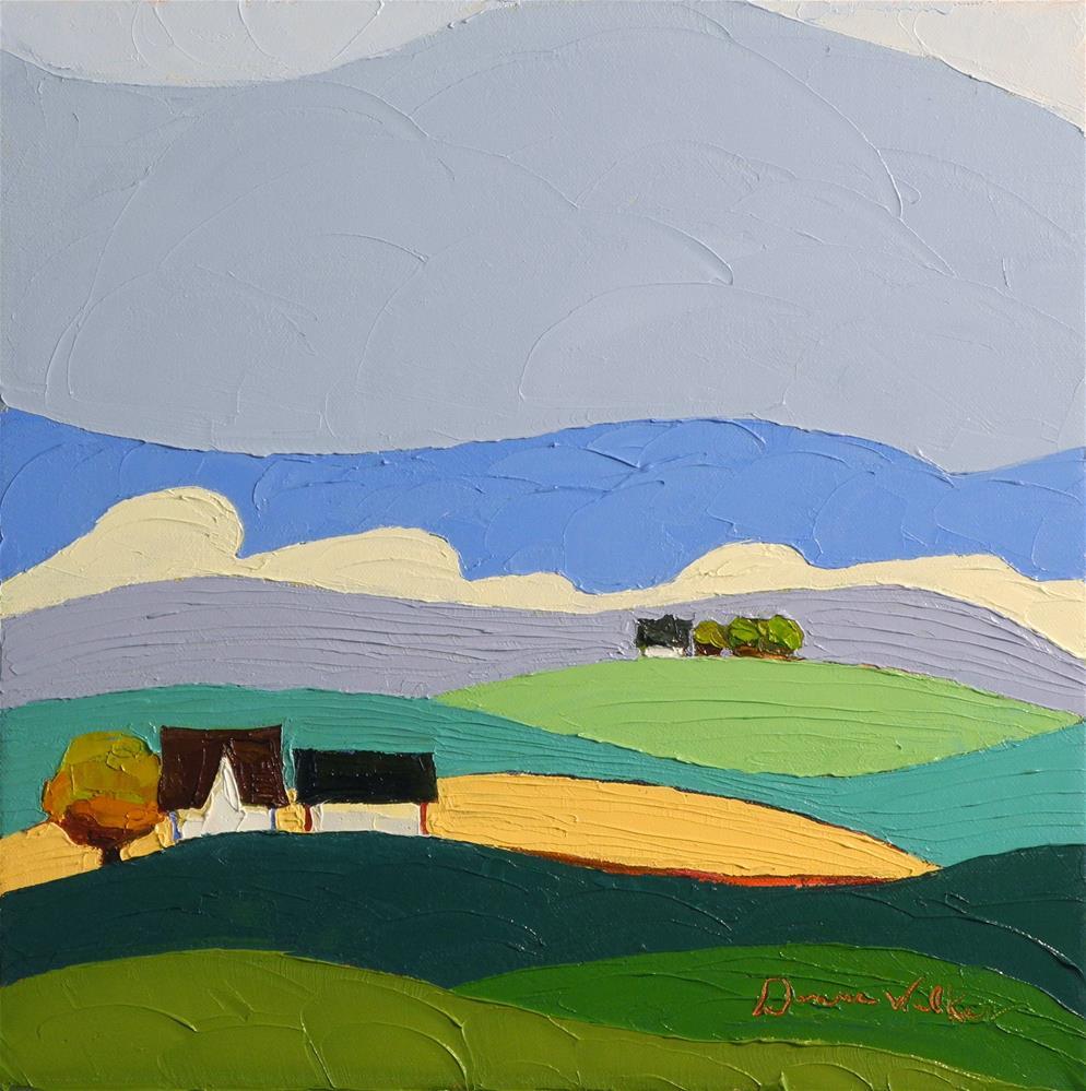 """""""Field to Field"""" original fine art by Donna Walker"""