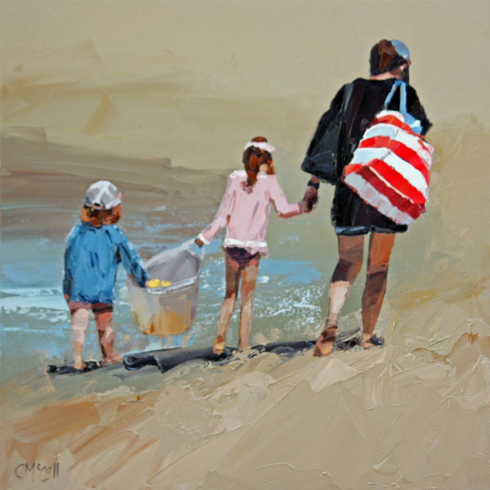 """""""Another Beach Day Done"""" original fine art by Claire McCall"""