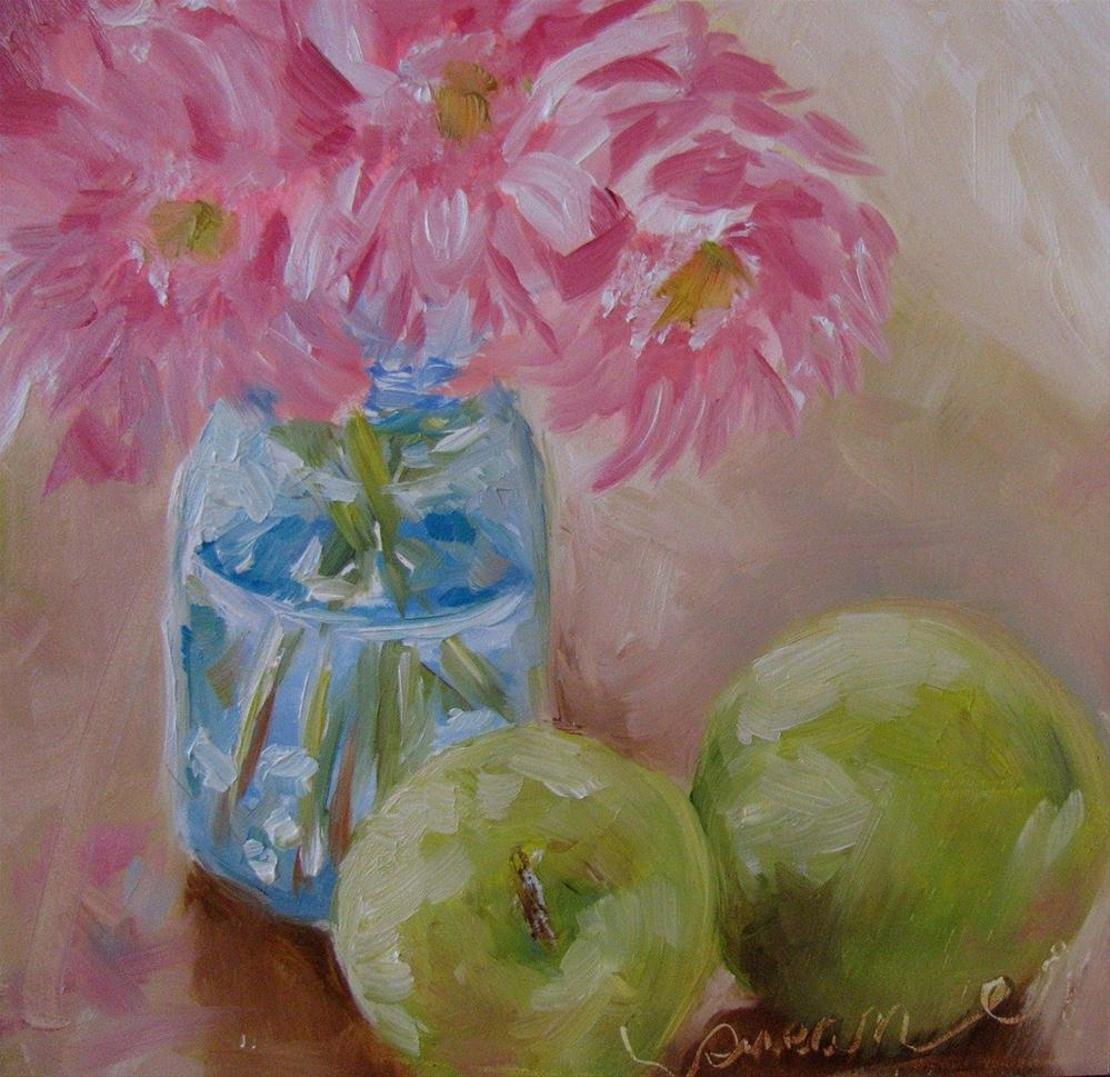 """Apple Still Life"" original fine art by Susan Elizabeth Jones"